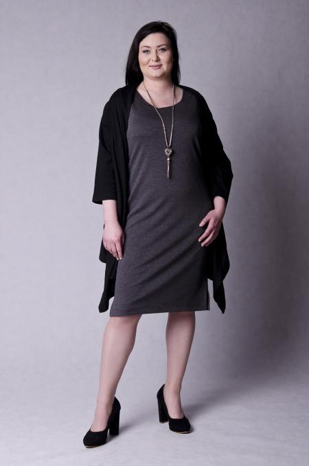 89dfca8731 MAGNIFY Odzież damska - duże rozmiary XXL - elegancka odzież dla puszystych  PAULETTE - BLEZER czarny