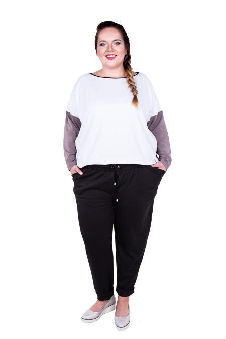 930dfc84c7 MAGNIFY Odzież damska - duże rozmiary XXL - elegancka odzież dla puszystych  SALOME - SPODNIE czarne